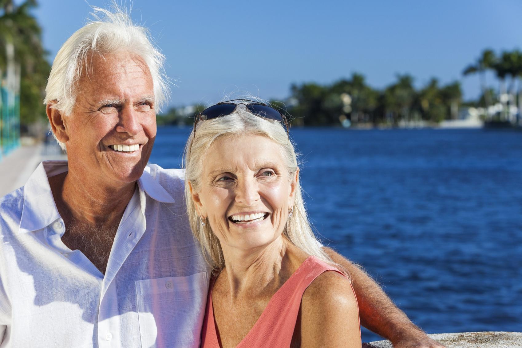 Older Couple in Sunshine - iStock_000022936415_Medium