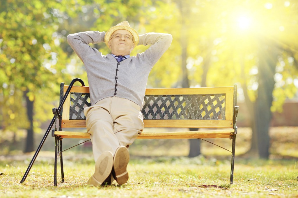 Pensioner On A Bench - iStock_000033189674_Large-min